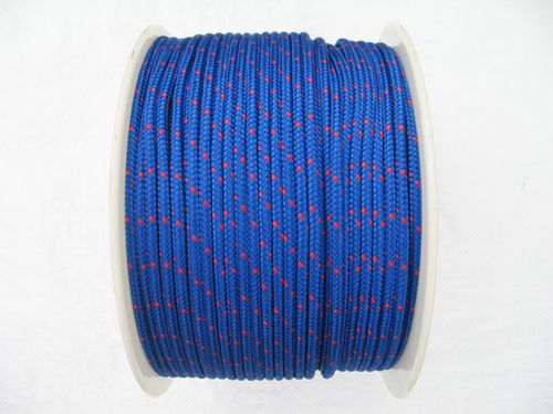 6MM x 175 Metre Blue/Red Kernmantle Polypropylene Rope - 16 Plait Double Braided PP